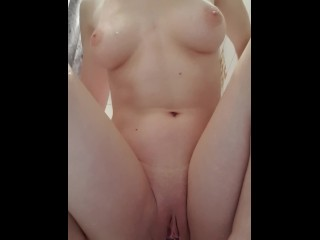 Masturbate in a shower while my dumb brother try to hear me – creamy orgasm