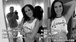 Real Life TWINs Fuck Rocco's XXL Cock – Kitty Fox and Nikki Fox
