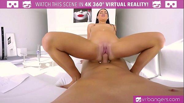 VRBangers.com Hot Brunette Fuck in The Ass and Cum Hard!