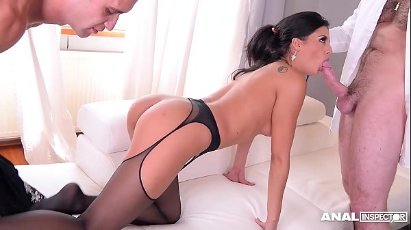 Anal inspectors share leggy foot fetish bombshell Coco De Mal's sexy toes