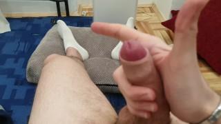 Jerking Off Uncut Cock